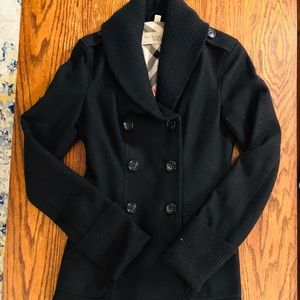 Burberry black women's coat size 6